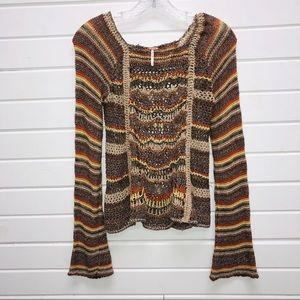 Free People Crochet Sweater